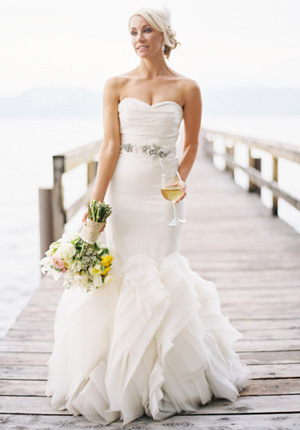 Wedding dress trends -- ruffles