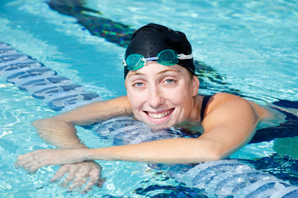 Woman swimming