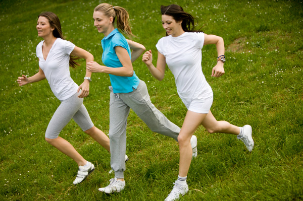 Women running