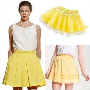 Yellow skirts