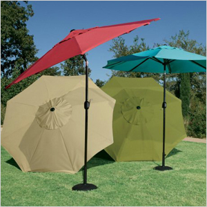round outdoor umbrella