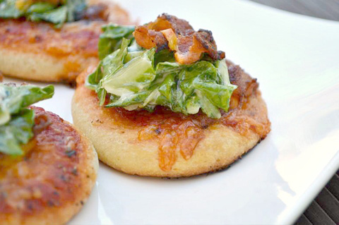 Mini BLT pizza pies
