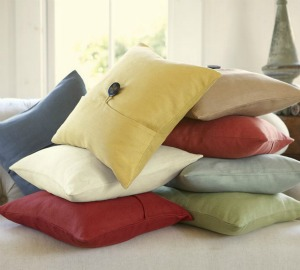 Pottery barn stack of pillows