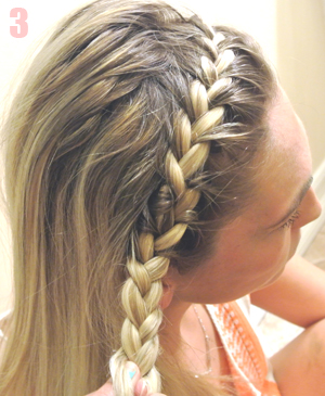 Braided Headband Step 3