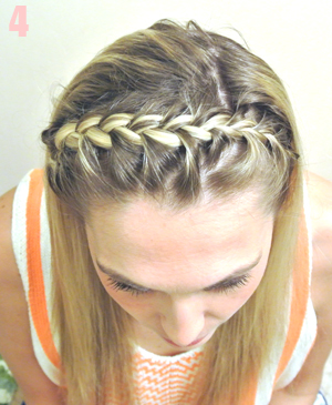 Braided Headband Step 4