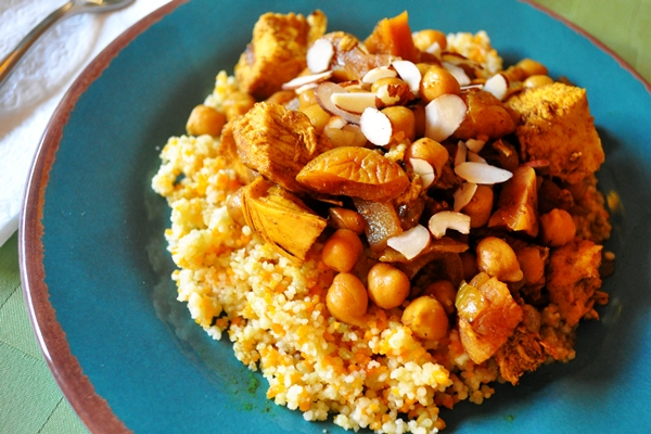 Apricots and chickpeas add flavor