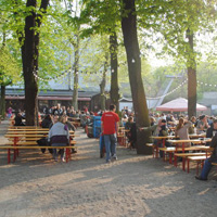 Beer garden in Berlin