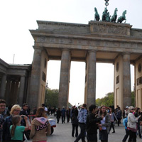 Tourists in Berlin