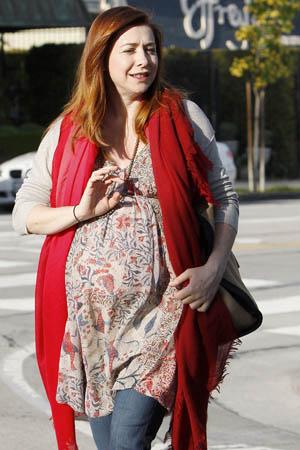 Alyson Hannigan has a huge belly, too