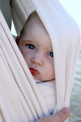 Baby in wrap