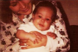 Jennifer Chidester as a baby, with her mom