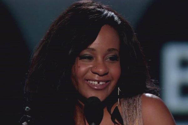 Bobbi Kristina Brown accepts awards for Whitney Houston