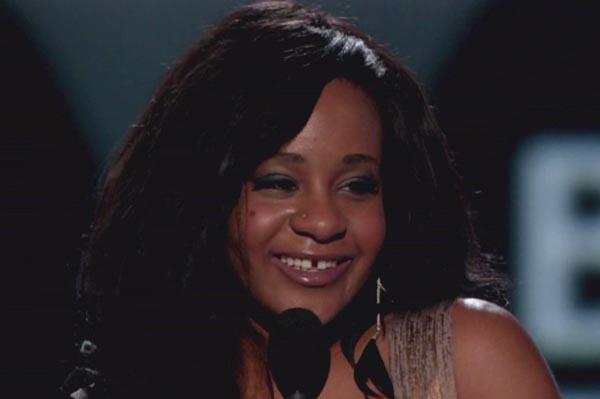 Bobbi Kristina Brown accepts awards for Whitney Houston