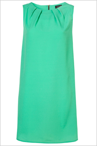 sea green shift dress