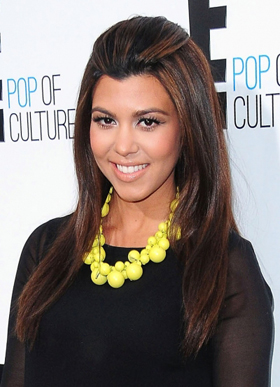 Kourtney Kardashian's straight hair