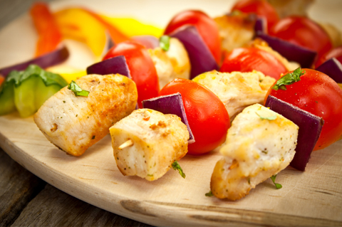 Chicken breast kebab