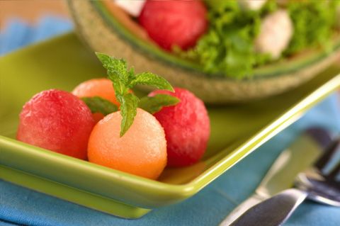 Minty melon salad
