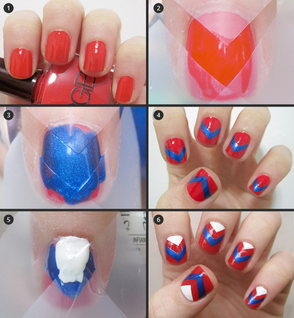 Nail art tutorial: chevron nail art design