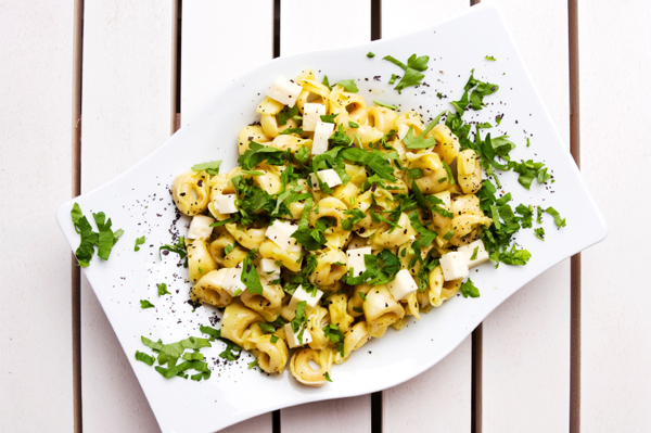 Chicken tortellini with feta cream sauce recipe