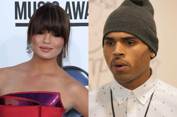 Chrissy Teigen gets death threats from Chris Brown fans