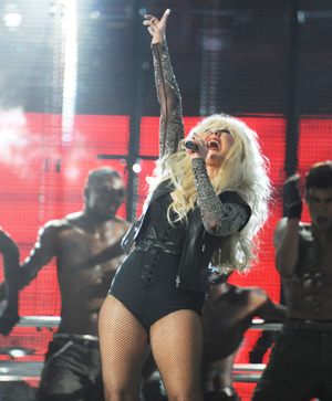 Christina Aguilera hot pants