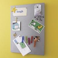 Mesh Silver Bulletin board