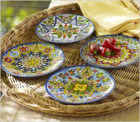 set of four salad plates