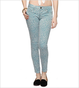 Leopard Skinny Jeans