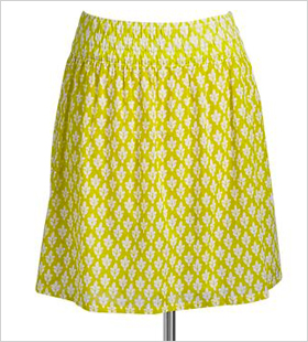 Printed-Pocket Skirt
