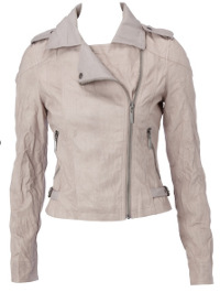 Crinkled biker jacket
