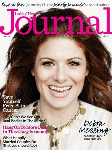 Debra Messing on Ladies' Home Journal June 2012