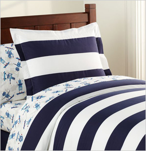 Rugby Duvet Cover, Pottery Barn Kids
