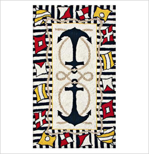 Anchors Away Area Rug, Lamps Plus