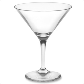 Duraclear martini glasses