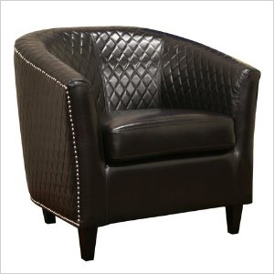 Leather clubchair with nailheads Amazon.com