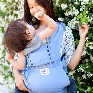 Ergobaby baby carrier mom with baby