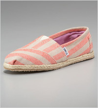 TOMS Beacon Striped Espadrille Slip-On Shoes