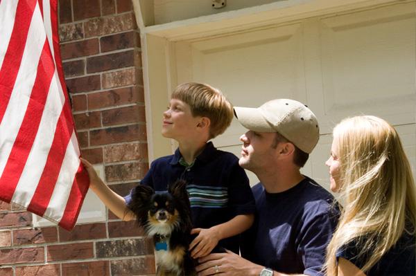 Family on Memorial Day
