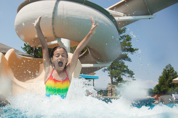 Girl at waterpark