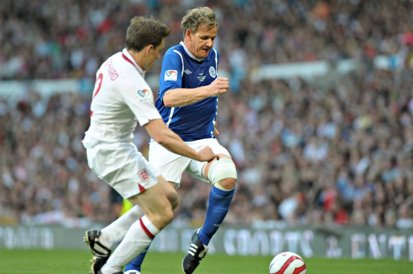 Gordon Ramsay hurt at Soccer Aid 2012