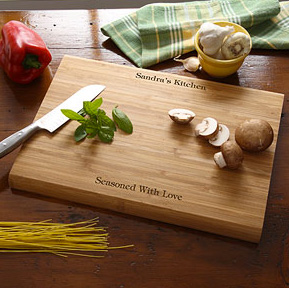 Personalized You Name It Bamboo Cutting Board ($25)
