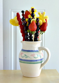 Homemade edible bouquet