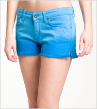 ombre denim cut-offs