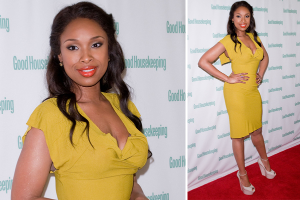 Jennifer Hudson attending a cocktail party celebrating her 'Good Housekeeping' February cover