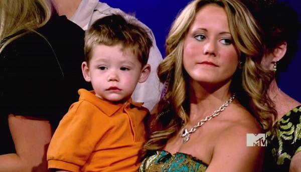 Jenelle Evans with son Jace