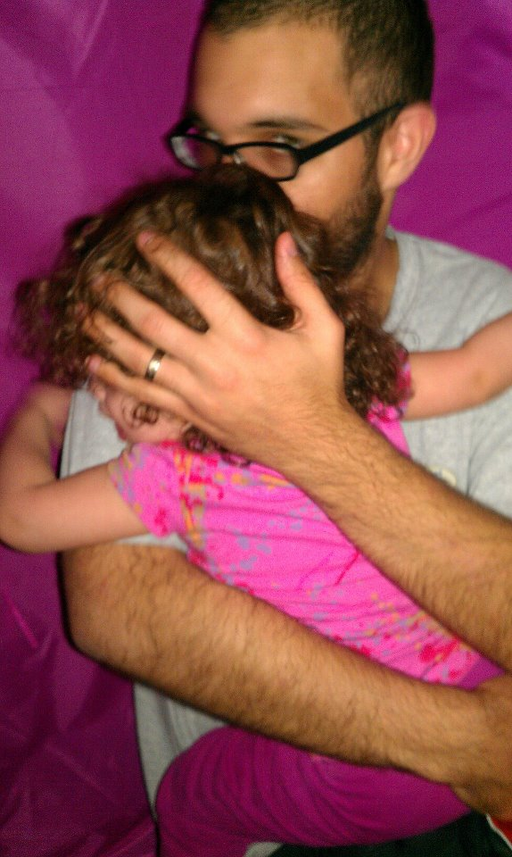 Jonathan with his daughter