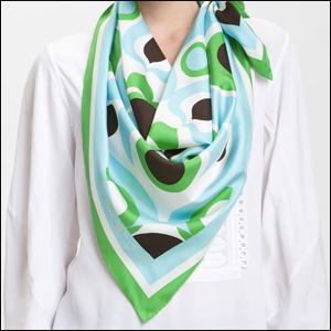 Ralph Lauren paisley silk chiffon scarf
