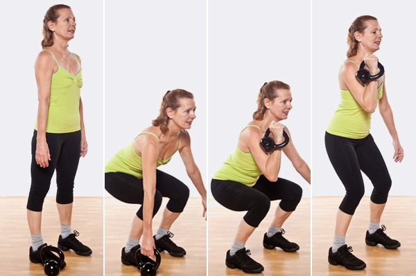Kettlebell Single-Bell Racked Squat