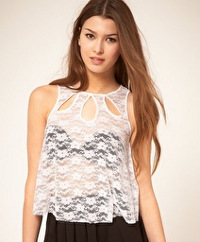 Keyhole lace top