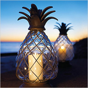 pineapple hurricane lanterns